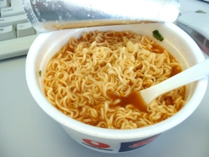 Ramen Noodles- I've had 'em for lunch at least MCCV times!