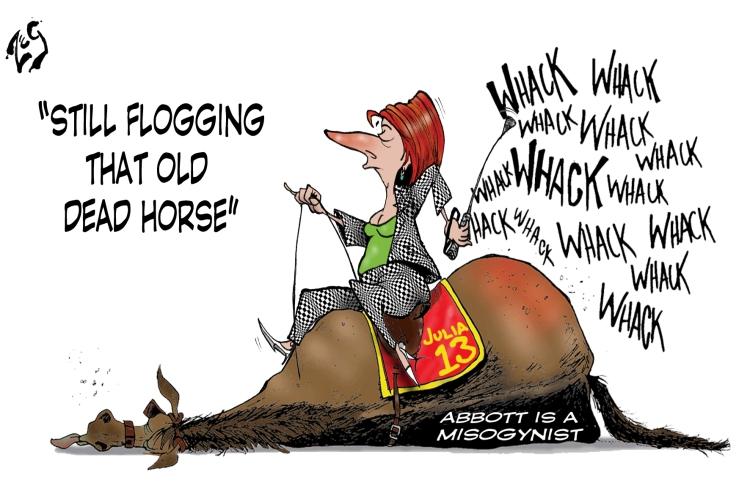 141211 Flog Horse
