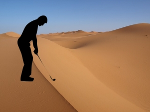 Saudi Arabia- The world's biggest oil producer and sand trap.