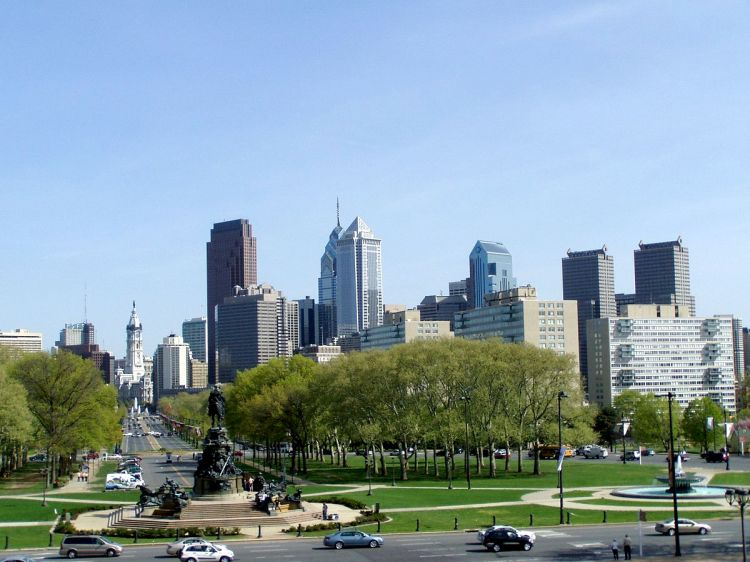 "Photo Credit--""Philadelphia skyline-daytime"" by Jeffrey M. Vinocur - Own work. Licensed under CC BY 2.5 via Wikimedia Commons"